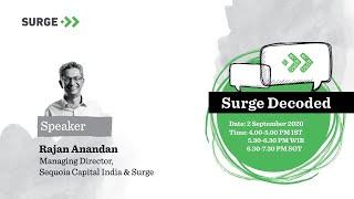 Surge Decoded: AMA with Sequoia Capital India's Rajan Anandan