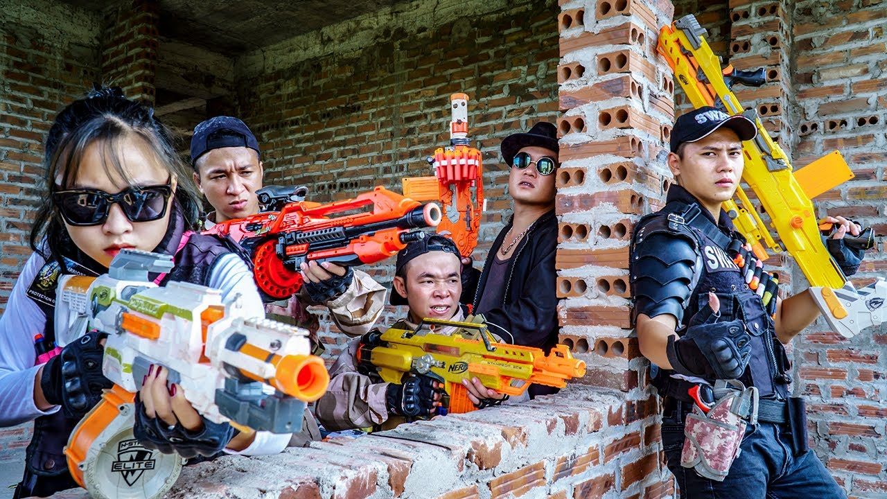 LTT Nerf War : Special Forces SEAL X Warriors Nerf Guns Fight Wanted Criminals Dr.Lee Crazy