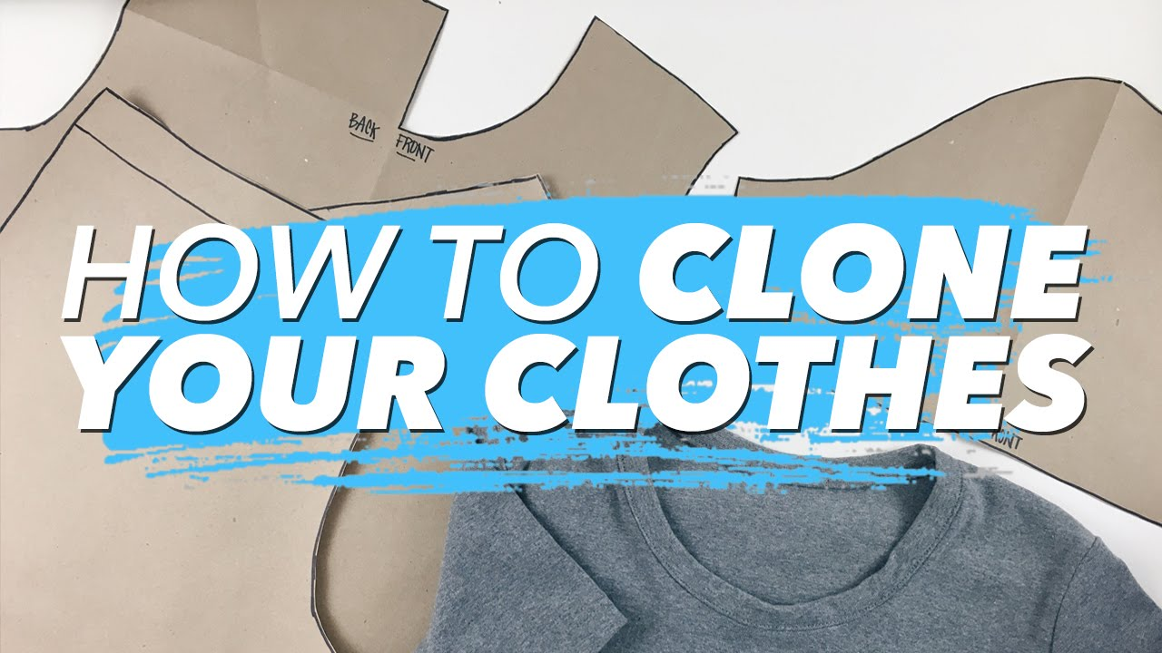 c30796de How to Make Patterns from Your Clothes (CLONE YOUR WARDROBE ...