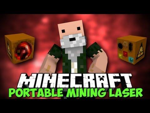 Minecraft: Mod Showcase | PORTABLE MINING LASER!