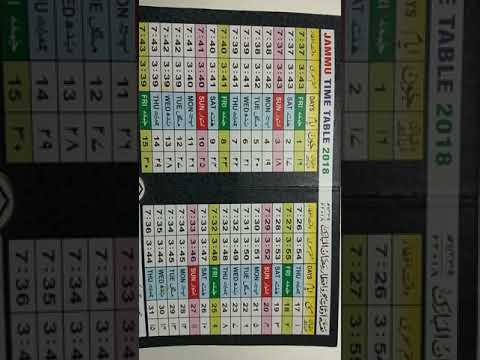 Ramzan 2018 Time Table