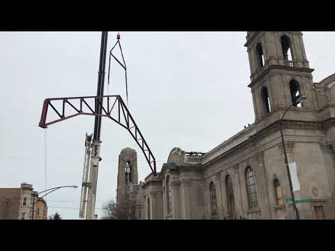 Truss Installation at the Shrine of Christ the King in Chicago