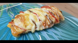 Простой и вкусный рецепт куриного филе с овощами и сыром