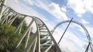 Colossus Front Row Seat on-ride HD POV Thorpe Park