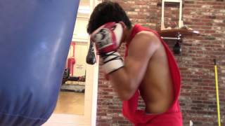 boxing standout ryan garcia punching (not slapping) heavy bag EsNews Boxing