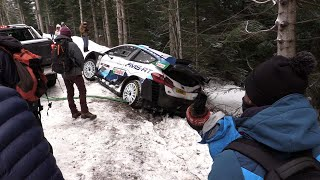 Test Rallye Monte Carlo 2021 Gus Greensmith Ford Fiesta WRC & after crash