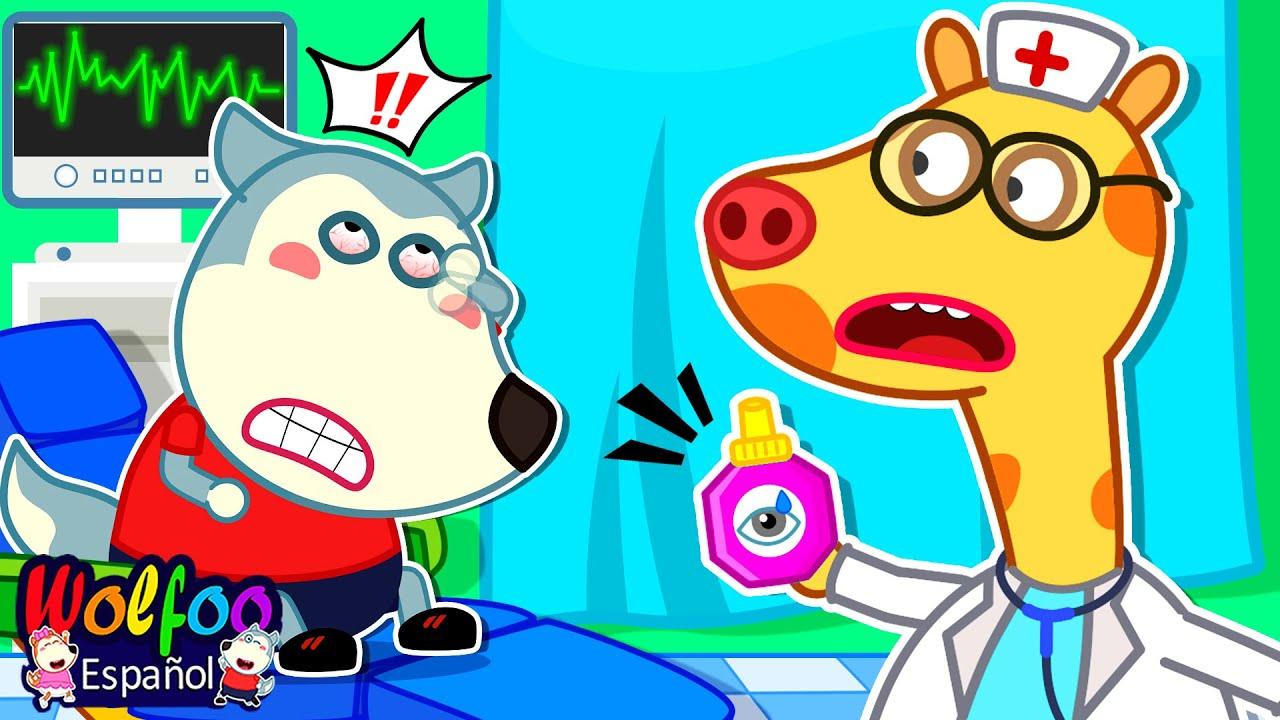 ¡No se frote los ojos, Wolfoo! Ir al médico|Buenos hábitos|Wolfoo Video Para Niños|Wolfoo en español