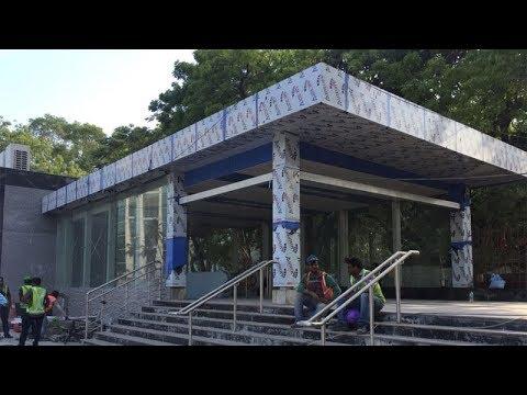 What Chennai Metro rail built behind barricades
