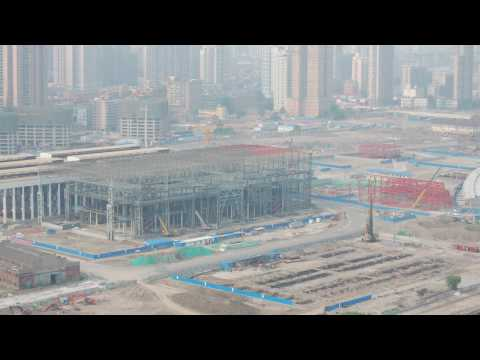 Shang Hai Expo 2010 Construction site in June 2009