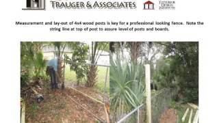 Orlando Home Inspector Shows How To Install Wood Fence