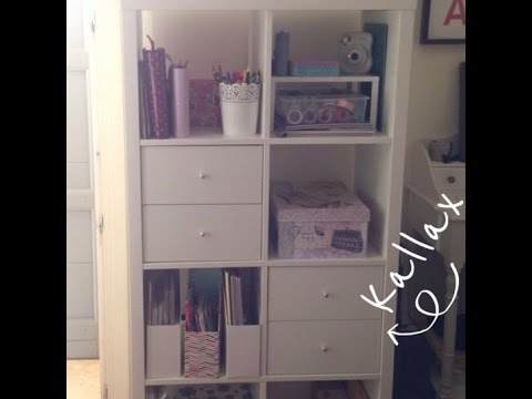 Kallax expedit ikea tour del mio nuovo mobile di cancelleria youtube - Mobile ikea kallax ...