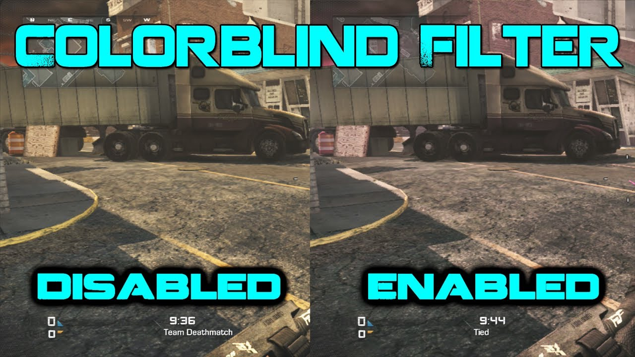 Games for colorblind - Colorblind Filter Enabled And Disabled Comparisons Cod Ghosts Youtube