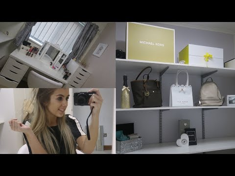 MY NEW MAKEUP ROOM | DIY, MAKEUP STORAGE, DISPLAY SHELVES