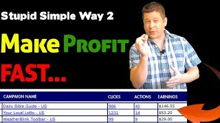 Subscribe here http://www.affiliatemarketingdude.com/subscribe in this video marcus shows you 2 stupidly simple ways to make money fast by testing your traff...