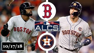 Boston Red Sox vs Houston Astros Highlights || ALCS Game 4 || October 17, 2018