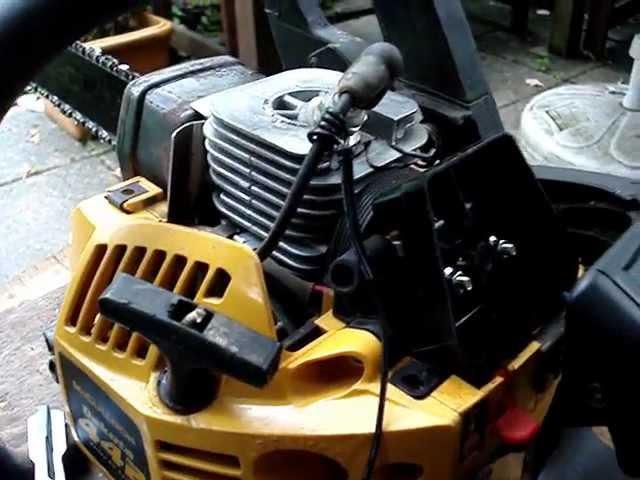 2 takt Motor Kettensäge betrieben mit Brauns Gas Knallgas