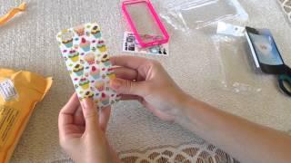 РАСПАКОВКА ПОСЫЛКИ - чехлы для iPhone 5/5S силиконовый