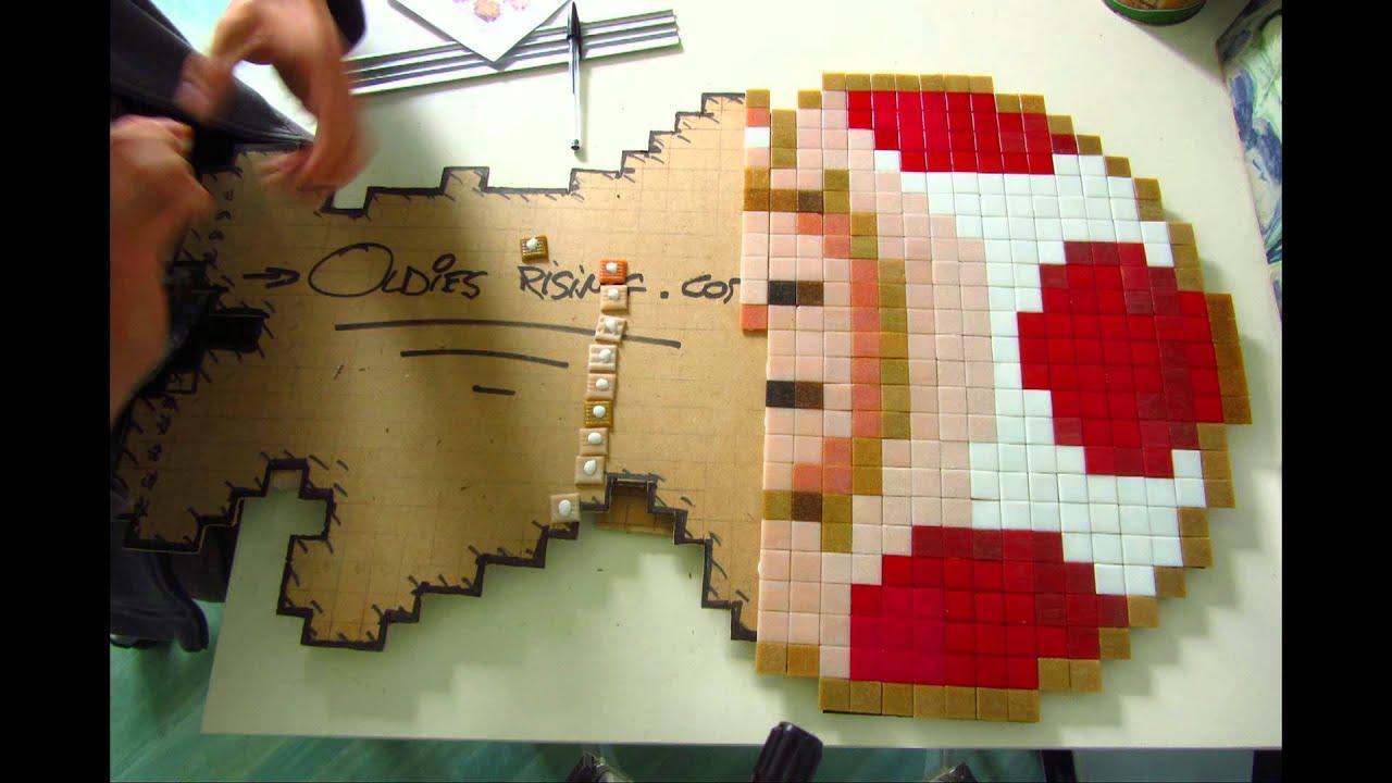 pixel art toad mosaique mosaique street art youtube. Black Bedroom Furniture Sets. Home Design Ideas
