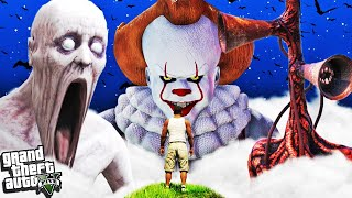 FRANKLIN vs PENNYWISE, SCP-096, SIREN HEAD in GTA 5 (Scary)