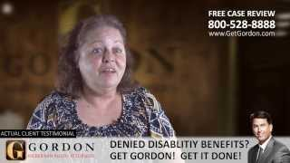Social Security Disability | Peggy Chauvin - Actual Client | Gordon McKernan Injury Attorneys