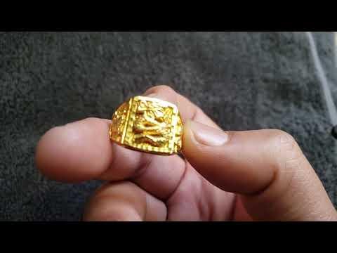 24KT GOLD DRAGON RING MEN JEWELRY