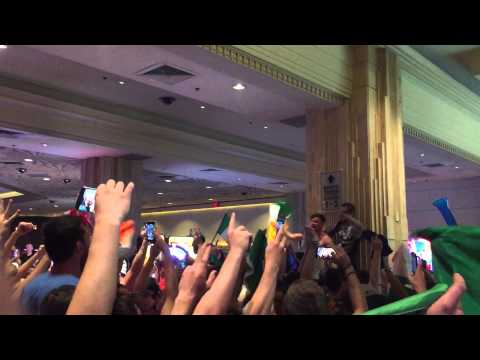 Amhran Na bhfiann at MGM after UFC 189 weigh-in