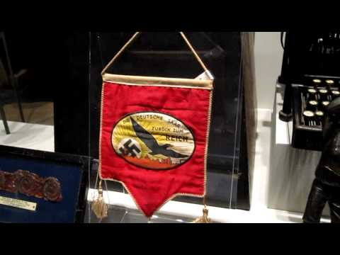 CRHnews - Nazi Saar banner German soccer statuette Chelmsford Museum