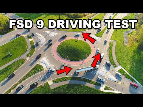 Tesla FSD Beta 9.0 Roundabout Challenge