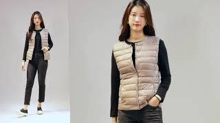 수지 닮은 그녀와 함께하는 가을코디 패션제안-라운드넥 …