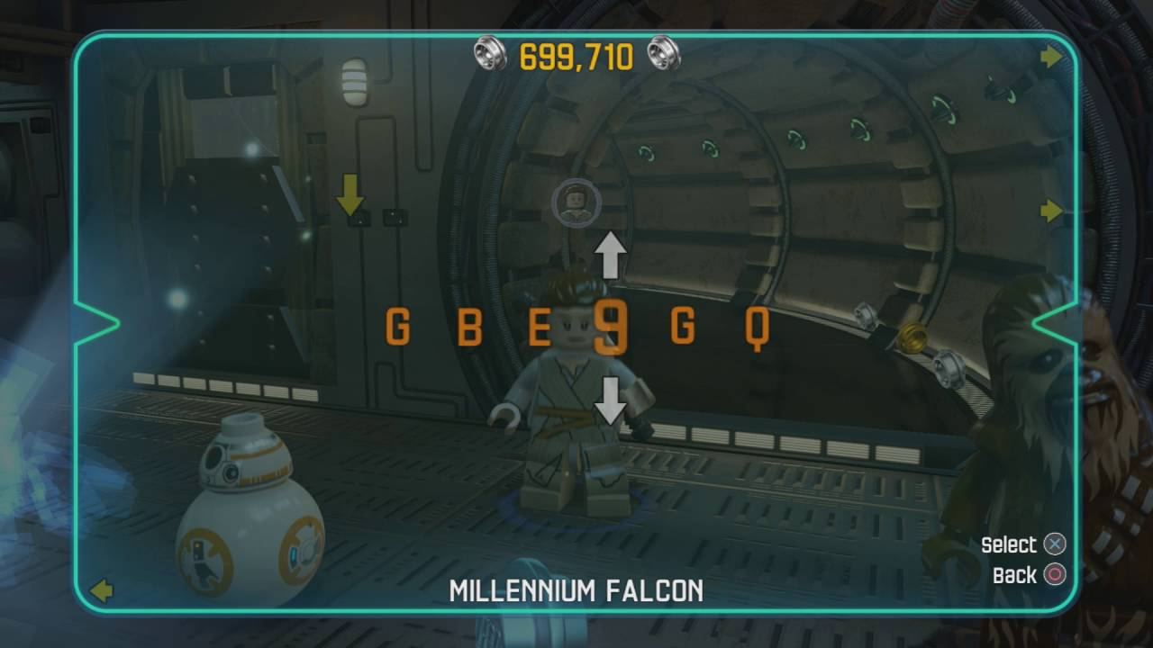 lego star wars force awakens how to change characters