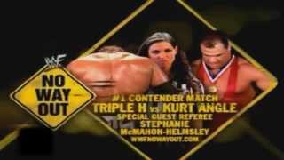 Triple H Vs Kurt Angle Highlights No Way Out 2002 HD