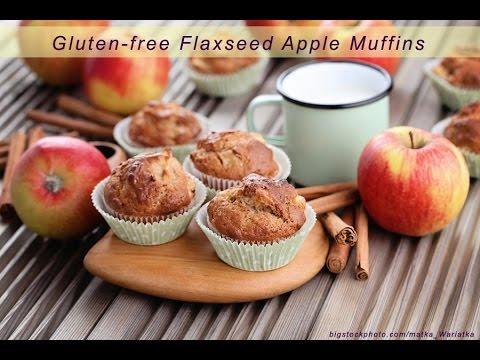 Gluten Free Flaxseed Aple Muffins