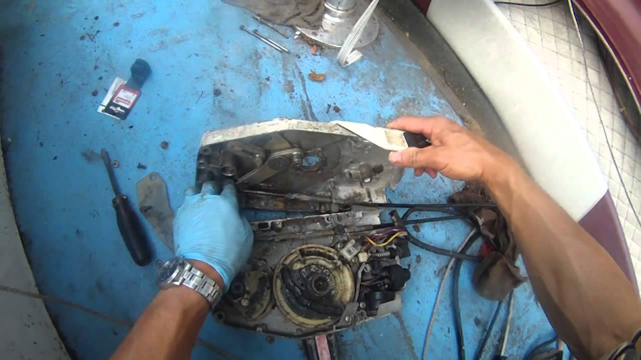 johnson outboard 90hp remote control throttle lever how to install part 2 of 2 [ 1280 x 720 Pixel ]