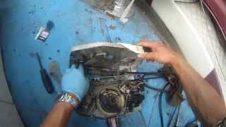 johnson outboard 90hp remote control throttle lever - how to install - part 2 of 2
