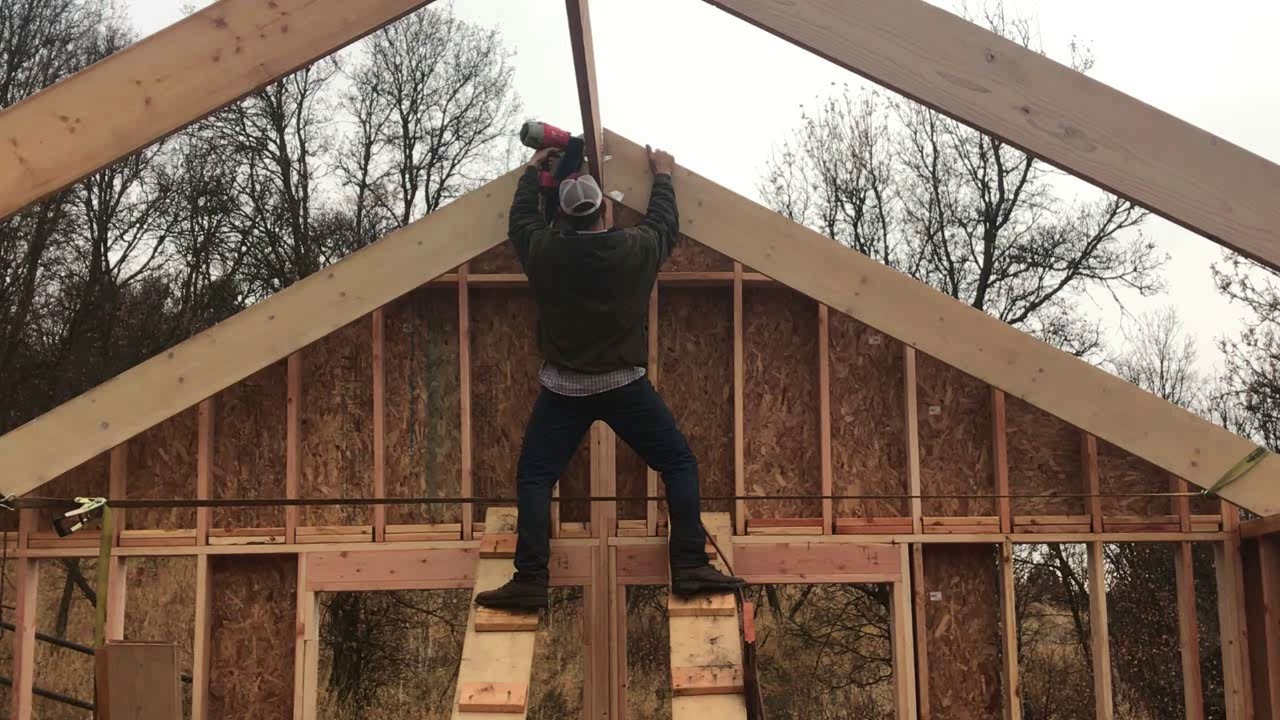 Diy Home Build 2x12 Roof Rafters Exposed Rafter Tails
