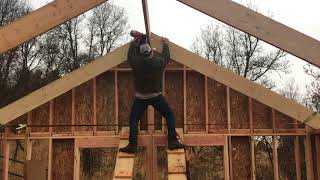 DIY Home Build: 2x12 Roof Rafters (Exposed Rafter Tails)