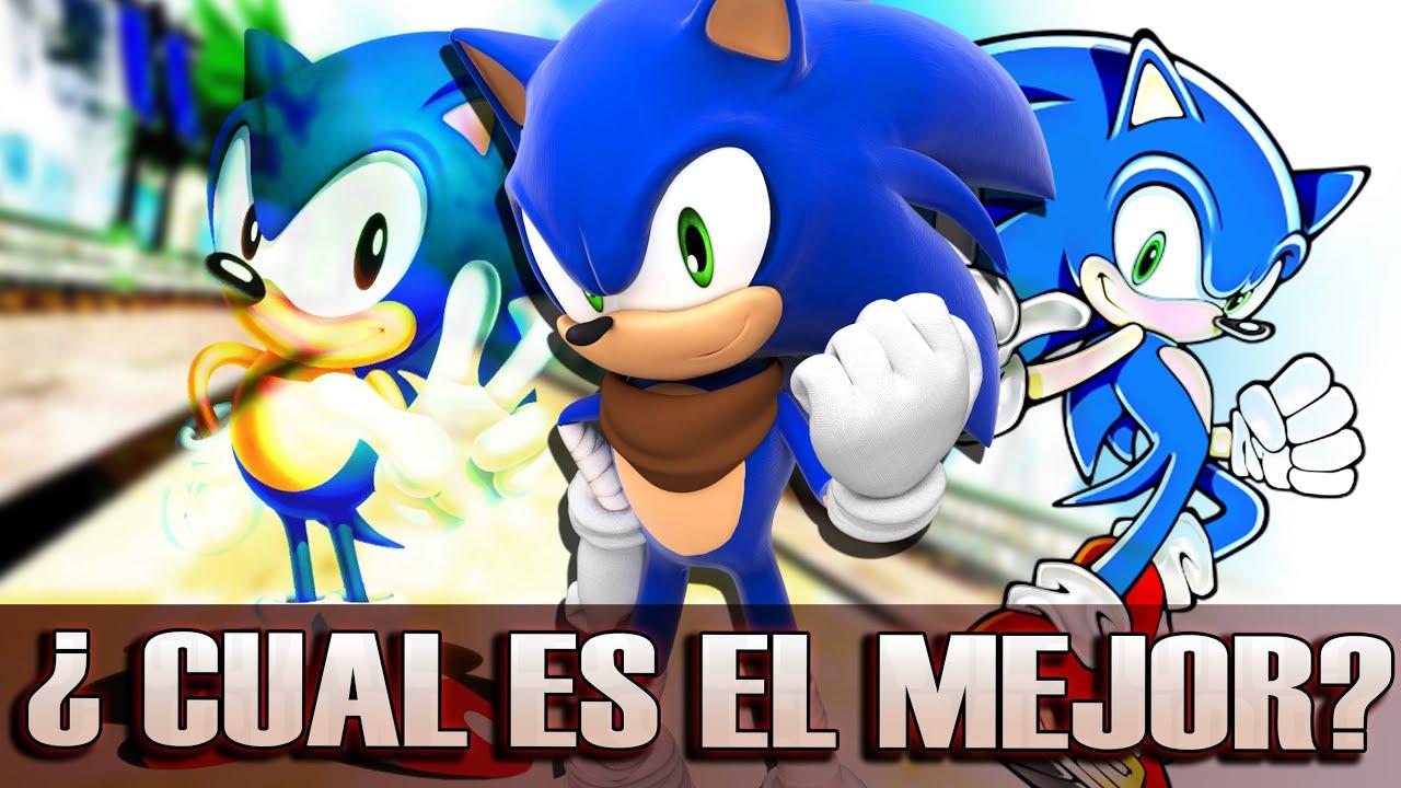 ¿cual Es El Mejor DiseÑo De Sonic? Youtube