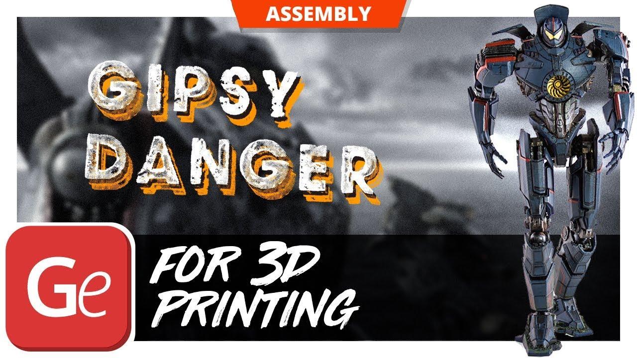 Pacific Rim Jaeger Gypsy Danger 3d Model