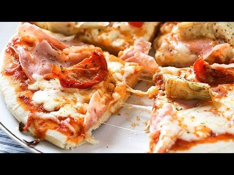 Pizza en sartén muy fácil y rica - Sin horno