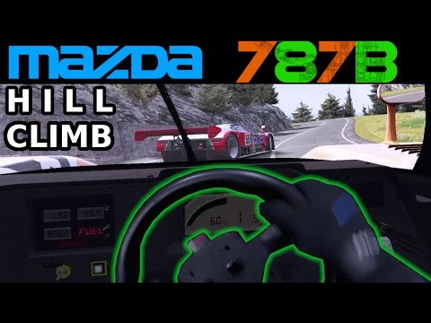 Epic Mazda 787B Hill Climb in VR [Mixed Reality] Assetto Corsa