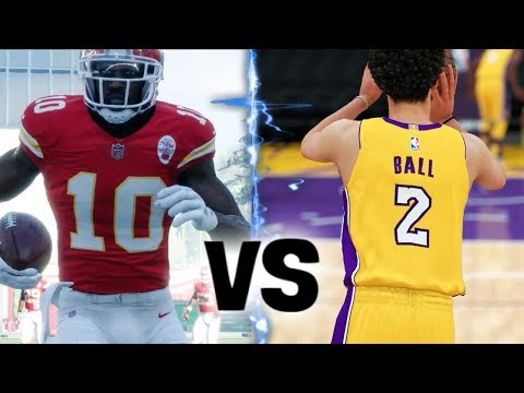 Lonzo Ball Half Court Shot OR Tyreek Hill Punt Return! What Happens First?