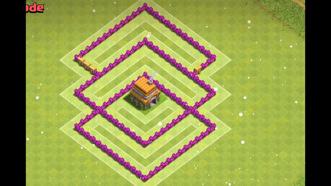 Clash of clans th6 war base anti giant anti balloon with sweeper
