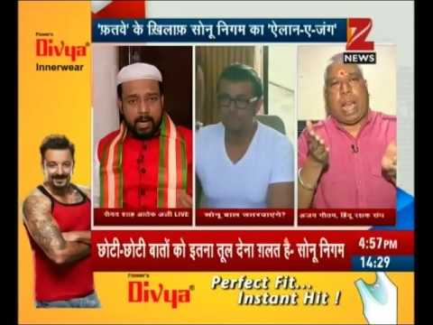 Maulvi Aatif Ali Kadri from West Bengal offers Rs.10 lakh who cut hairs of Sonu Nigam