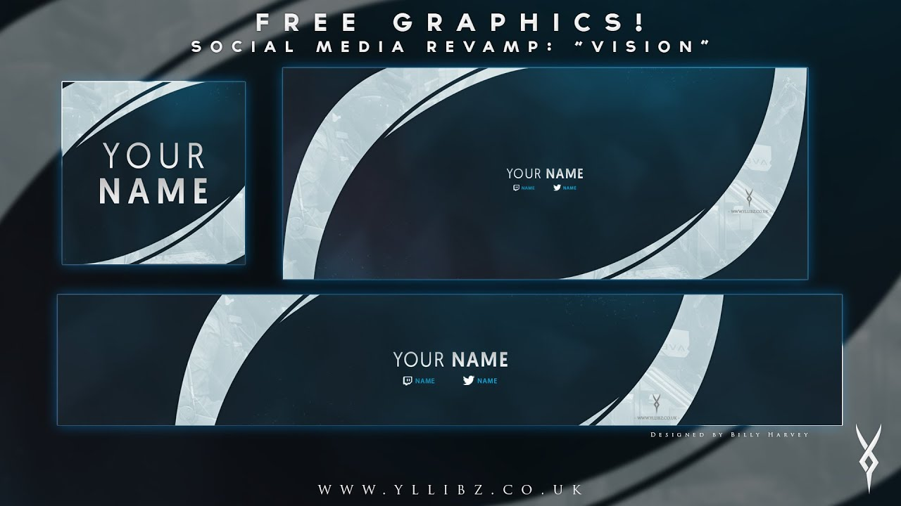 free graphics social media revamp vision photoshop template by yllibzify youtube