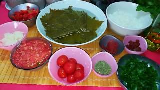 Как приготовить постную сарму из виноградных листьев