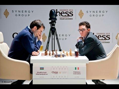Ajedrez - Memorial Gashimov 2014 ronda 9 - Caruana vs Mamedyarov (GM Miguel Illescas)