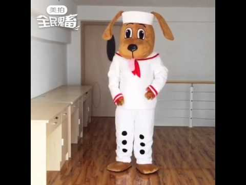 Put on your Cute Sailor Dog Mascot Costume & Put on your Cute Sailor Dog Mascot Costume - YouTube