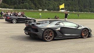 Lamborghini Aventador SVJ vs Mercedes Benz CLK DTM Cabrio