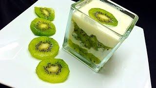 Kiwi Layered Milk Pudding കിവി മിൽക് പുഡിങ്
