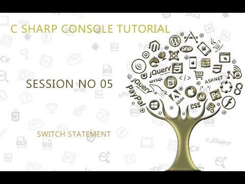C# Programming Tutorial Lessons for Beginners 05 Switch Program